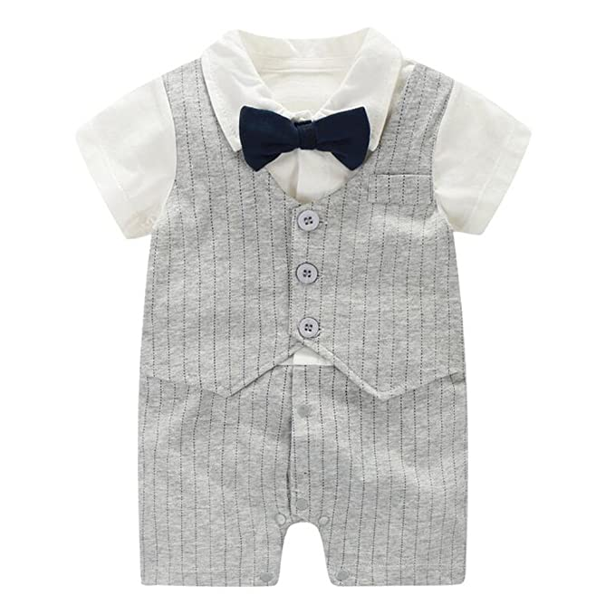 Fairy Baby Baby Boy Formale Abito a Maniche Corte Tuxedo Plaid Gentleman  Suit  Amazon.it  Abbigliamento 4c700c03205