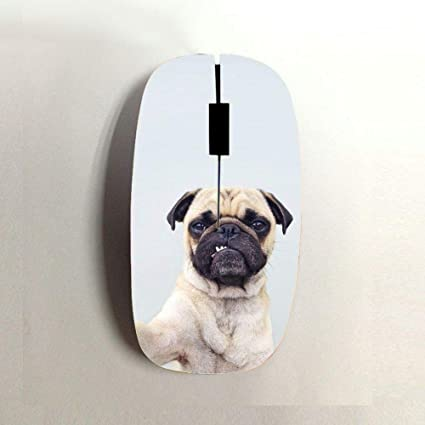 Babu Building Printing Pug Dog for Girls Use On Bluetooth Mouse Rigid Plastic The One