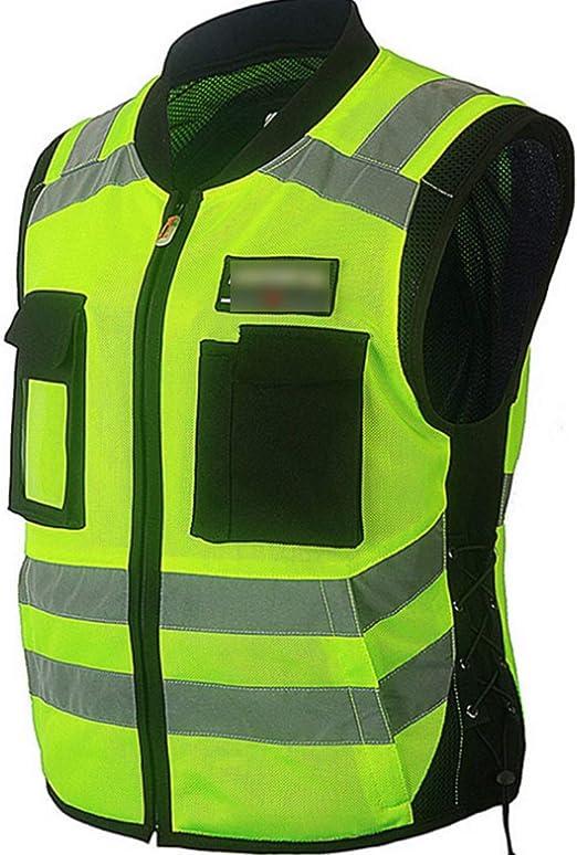 Chaleco reflectante para correr Alta visibilidad chaleco de seguridad con bandas reflectantes que bromean motocicleta de la bicicleta de Tráfico de la Guardia de Seguridad Noche Chaleco Camisa general: Amazon.es: Hogar