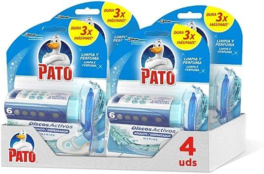 Pato - Discos Activos WC Marine, aplicador y recambio con 6 discos [Pack de 4][Todos los aromas]: Amazon.es: Alimentación y bebidas