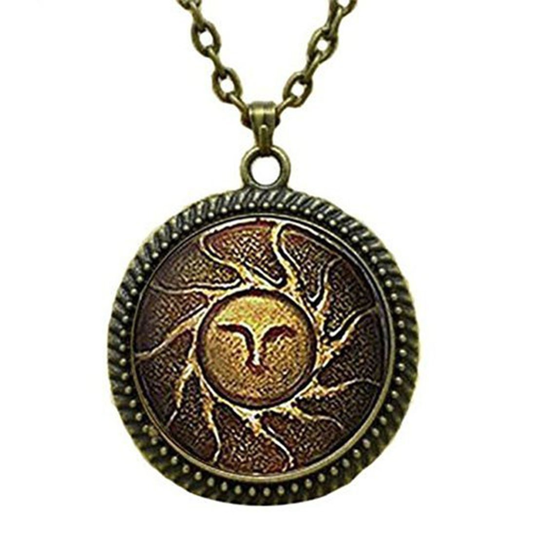 SunShine Day Fashion Necklace Heirs Of The Sun Dark Souls Ii Necklace Glass Cabochon Necklace A3212