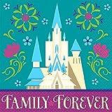 "Disney Frozen Beverage Napkins Birthday Party Tableware Supply (16 Pack), Teal/Violet, 5"" x 5""."