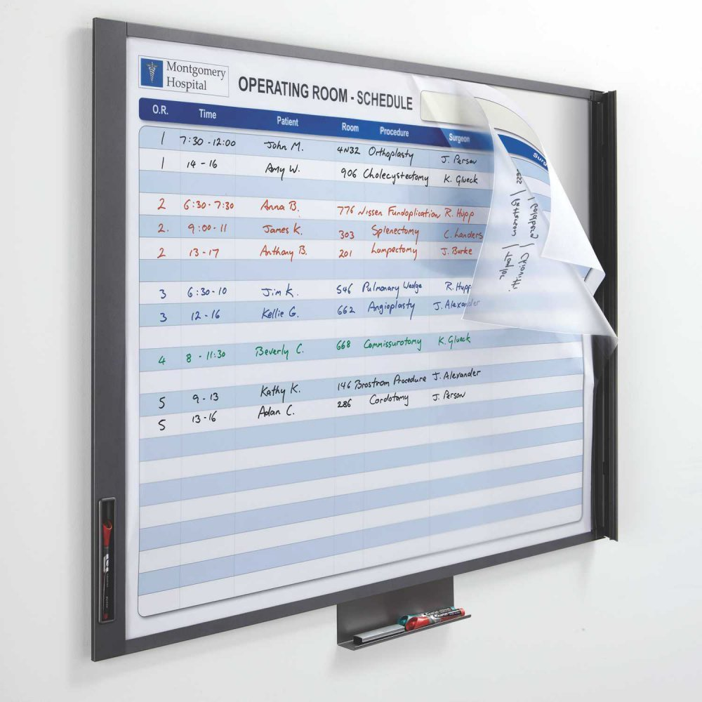 Quartet InView Custom Total Erase Writing Surface Whiteboard - 47.5 x 35 in.