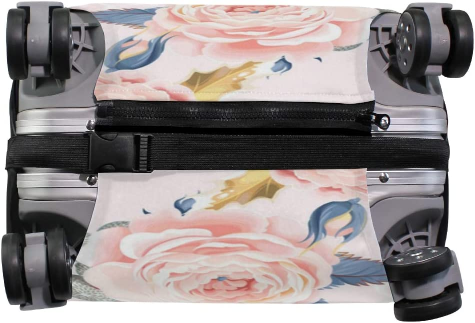 Full Bloom Of Roses Traveler Lightweight Rotating Luggage Protector Case Can Carry With You Can Expand Travel Bag Trolley Rolling Luggage Protector Case