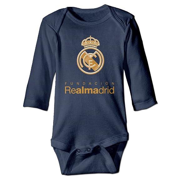 real-madrid-logo recién nacido bebé Onesies trajes: Amazon.es: Hogar