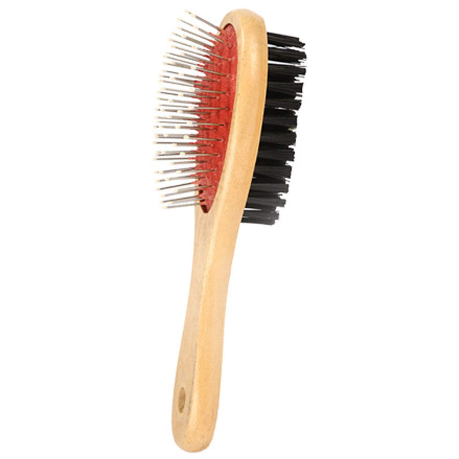fairly_headstream Double-Sided Pet Comb Big Dog Brush for Cats Dogs Hair Wooden Soft Brush Pet Comb, S