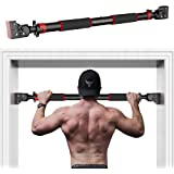 HANDSONIC Pull Up Bar for Doorway, No Screws Required Chin Up Bar Adjustable Dip Bars for Home Gym Exercise Fitness Up…