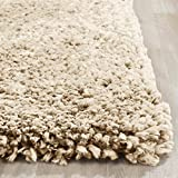 Cheap LA Rug Linens Cozy Shag Collection Light Beige Solid Shag Rug (8'X10′) Contemporary Living and Bedroom Soft Shaggy Area Rug (Popcorn Beige)