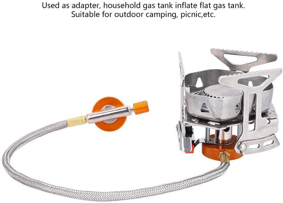 V GEBY Adaptateur de po/êle de Camping avec convertisseur de r/éservoir de gaz avec t/ête et Tuyau pour Chauffage de po/êle Portable