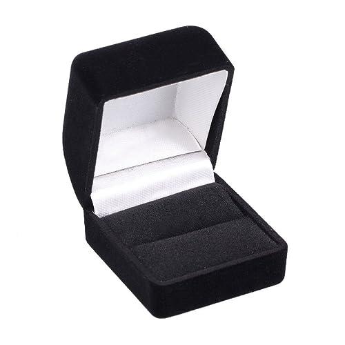 Amazon.com: Sencillo Caja de joyas anillo de terciopelo ...