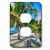3dRose Danita Delimont - Beaches - Usa, Hawaii, Big Island. National Historic Park Puuhonua o Honaunau. - Light Switch Covers - 2 plug outlet cover (lsp_278928_6)