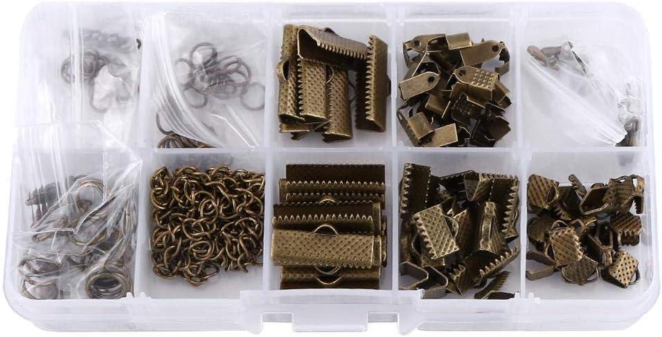 crochets de boucles doreilles kit de r/éparation de colliers anneaux de jonction kit de fabrication de bijoux accessoires kit de boucles doreilles Fournitures de fabrication de bijoux