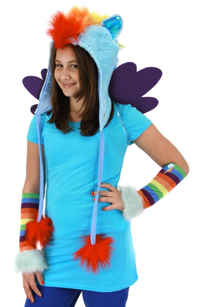 Elope My Little Pony Halloween Universal Kids and Adult Costumes Rainbow Dash Hoodie Toy Zany 618480013511