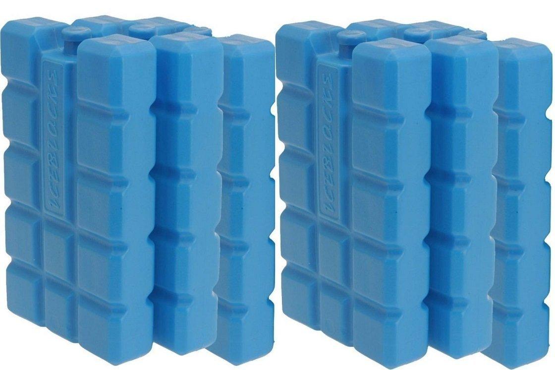 Gefrierger/ätezubeh/ör by RIVENBERT 6er Set K/ühlakku mit je 400 ml 2 blaue K/ühlelemente f/ür die K/ühltasche