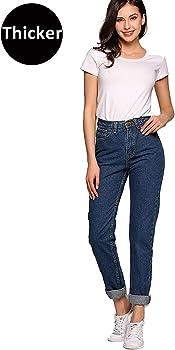 Womens High Waist Mom Jeans,Boyfriend Straight-Leg Denim Pants