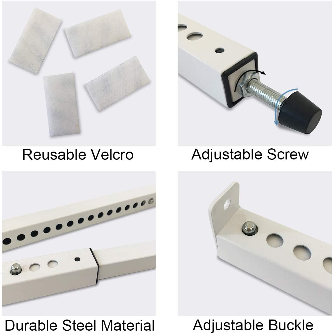 Sturdy Steel Jeacent Adjustable Window Security Bar 1pcs Extends from 15 1//2 to 29 1//2 Patio Door Lock