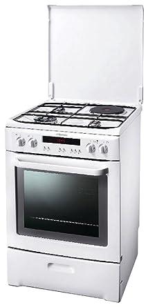 super populaire 10fad b40fc Electrolux EKM607703W Cuisinière Mixte Gaz et Electrique ...