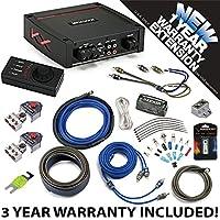 Kicker 44KXA4001 Car Audio Sub Amp KXA400.1 & 4 GA Amplifier Accessory Kit - 3 Year Warranty!