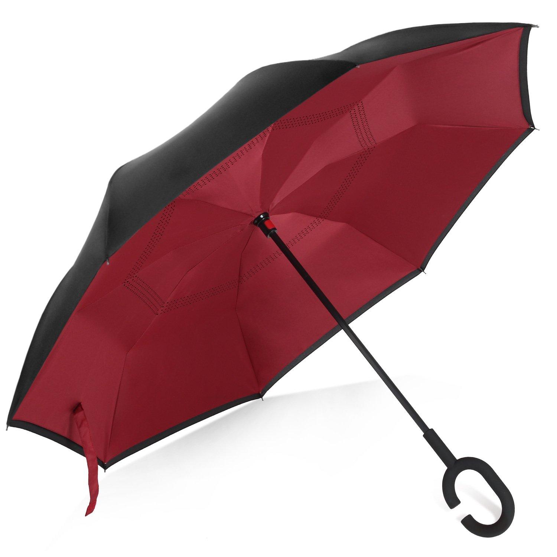 amazon com rainlax inverted umbrella double layer windproof uv