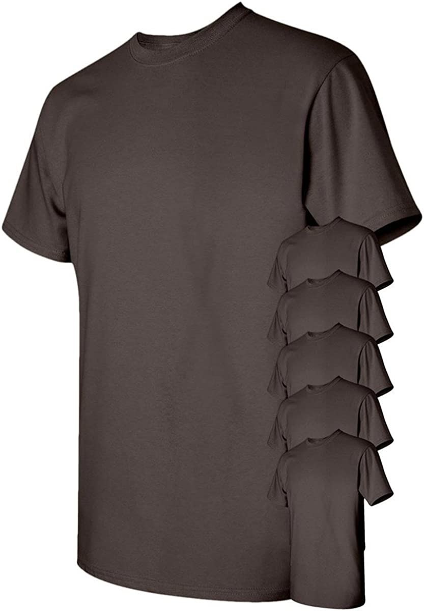 Black Small. Pack of 6 Gildan Mens Heavy Cotton T-Shirt