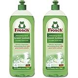Frosch Natural Green Lemon Hand Dish Washing Soap, 750 ml (Pack of 2)