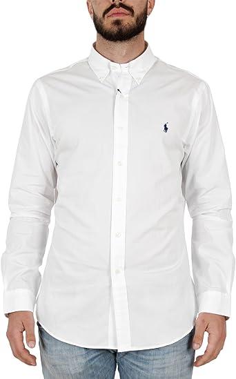 Ralph Lauren LS Slim Fit BD Ppc SPT Camisa de Vestir para Hombre: Amazon.es: Ropa y accesorios