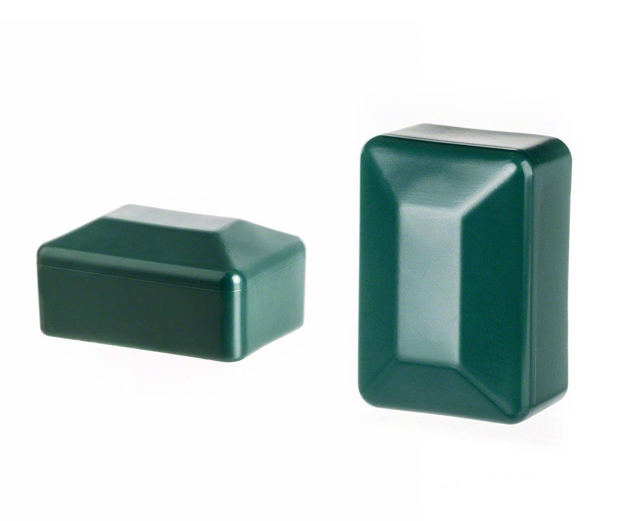 Zaunpfahlkappe quadratisch 100x100 mm Schwarz Zaunpfostenkappen Zaunabdeckung Kunststoff 10 Stck