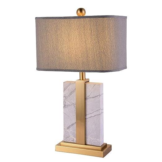 Art Lámpara de mesa de tela cuadrada de moda simple Lámparas de ...