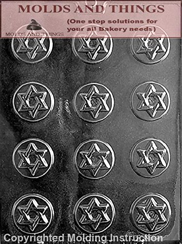 STAR OF DAVID MINTS Chocolate Candy Mold With Copywrited molding Instructions