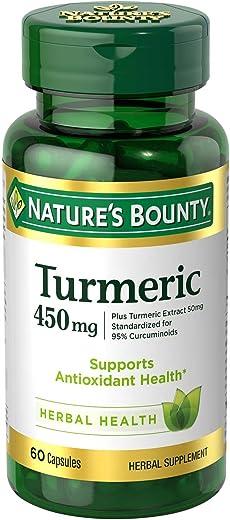 Nature's Bounty Turmeric Curcumin Caps, 60 ct, Green (15417)