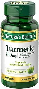 Nature's Bounty Turmeric Curcumin Capsules, 450 mg, 60 Count