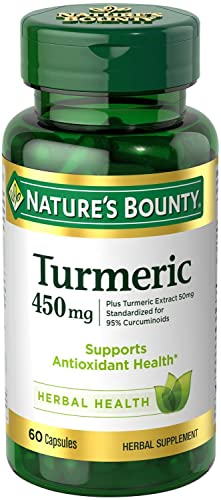 Nature s Bounty Turmeric Curcumin Capsules, 450 mg, 60 Count