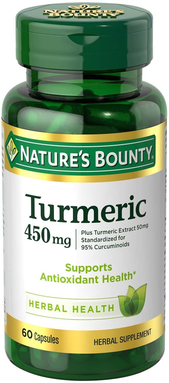 Nature's Bounty Turmeric Curcumin 450 mg, 60 Capsules