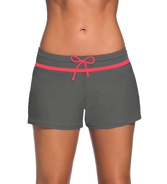 75fde7872904 YoungSoul Shorts de baño Cinturilla con cordón Ajustable - Trajes de ...