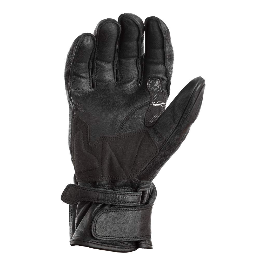 RST 2105 Jet City CE Approved Leather Motorcycle Bike Gloves Black S