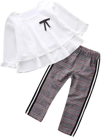K-youth Conjunto de Ropa para Niñas Ropa Bebe Niño Camiseta de Manga Larga Blusas Niña Top y Pantalones 1-6 Años: Amazon.es: Ropa y accesorios