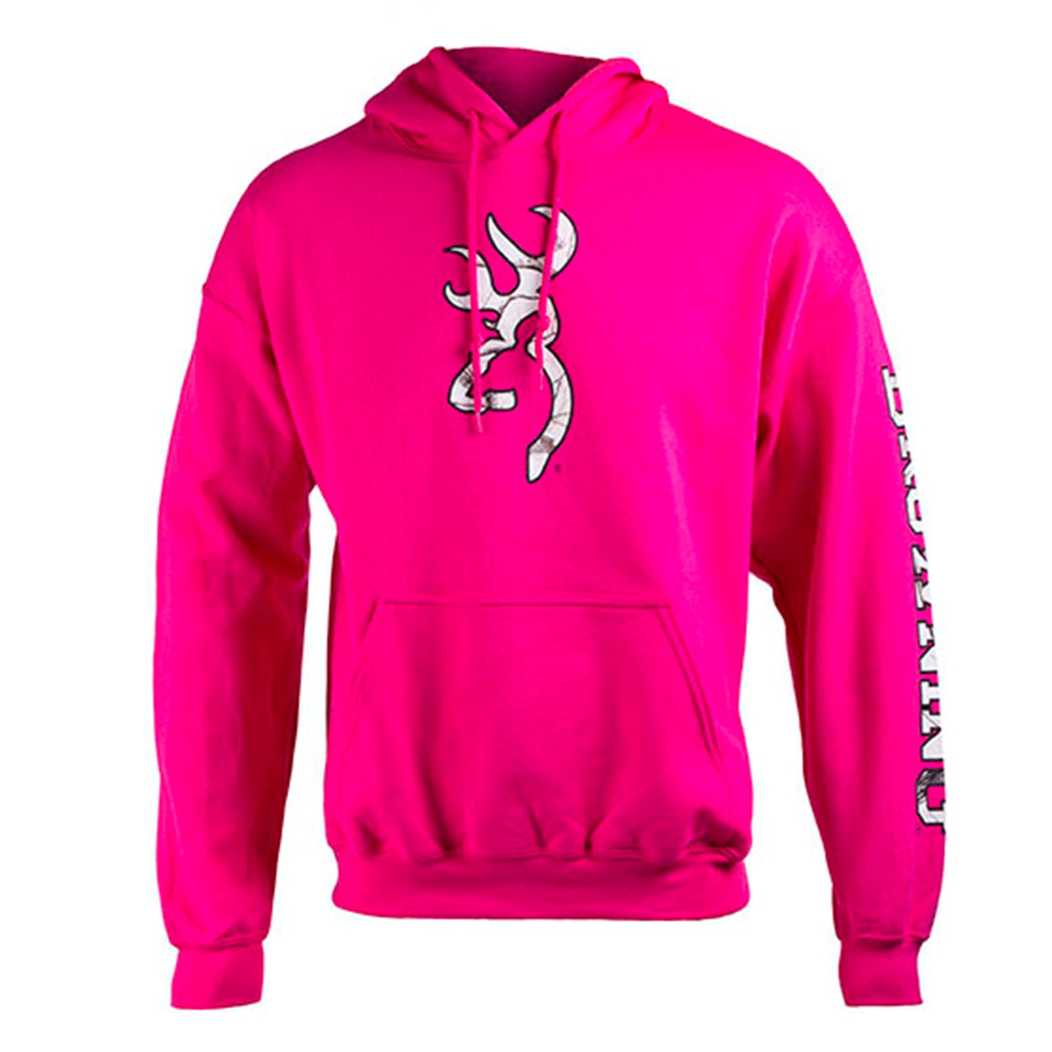 Browning Women's Two Hit Camo Screened Hoodie | Realtree APC | Pink | Large