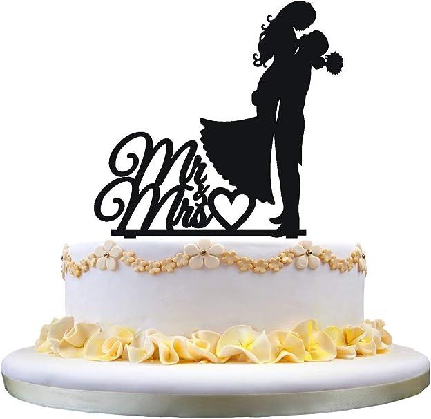 zhongfei Mr Mrs Cake Topper, mariée et marié Topper de