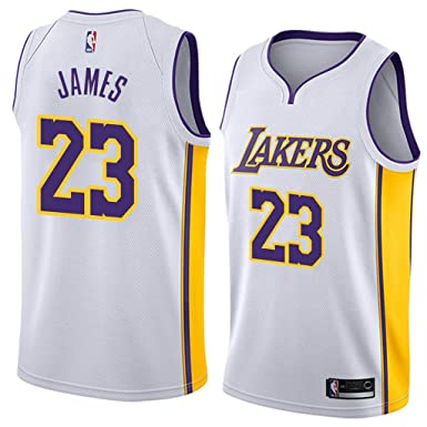 908e50c803a4 Amazon.com  Mitchell   Ness Men s Los Angeles Lakers  23 Lebron James NBA Swingman  Jersey  Clothing