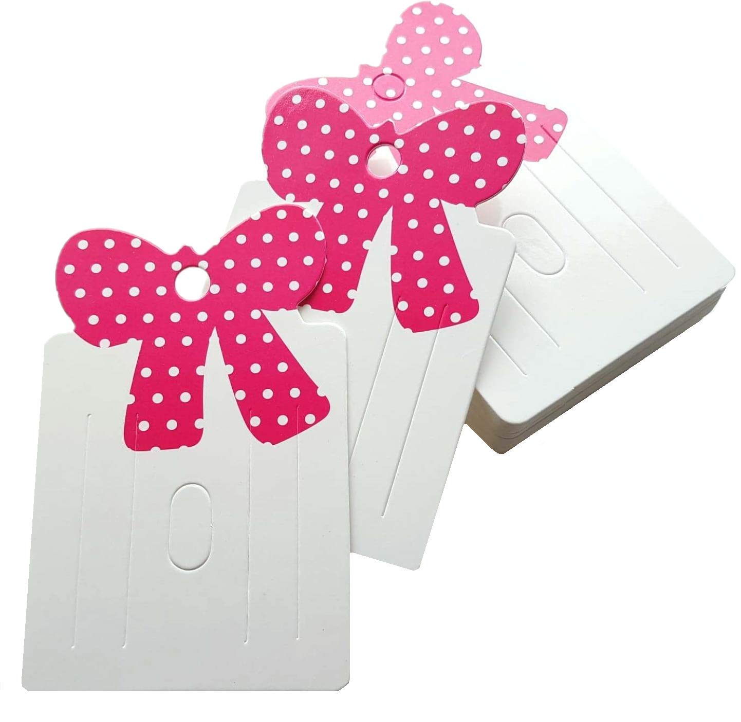 100pcs Hairpin Paper Card Hair Clips Bow Jewelry DIY Display Packaging Cards