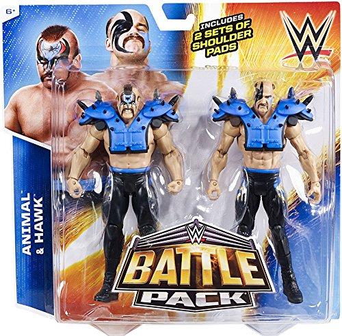 WWE Battle Pack Series #34: the Road Warriors Animal vs. Hawk Action Figures (2-Pack)