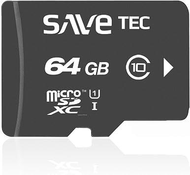 SaveTec Micro SDXC 64 GB CLASS10 Tarjeta de Memoria UHS-1 ...