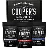 Bourbon, Whiskey & Rum Barrel Aged Coffee Bean Box Set - Ground - Coffee Sampler - Single Origin Malt Whiskey Sumatra, Rye Wh