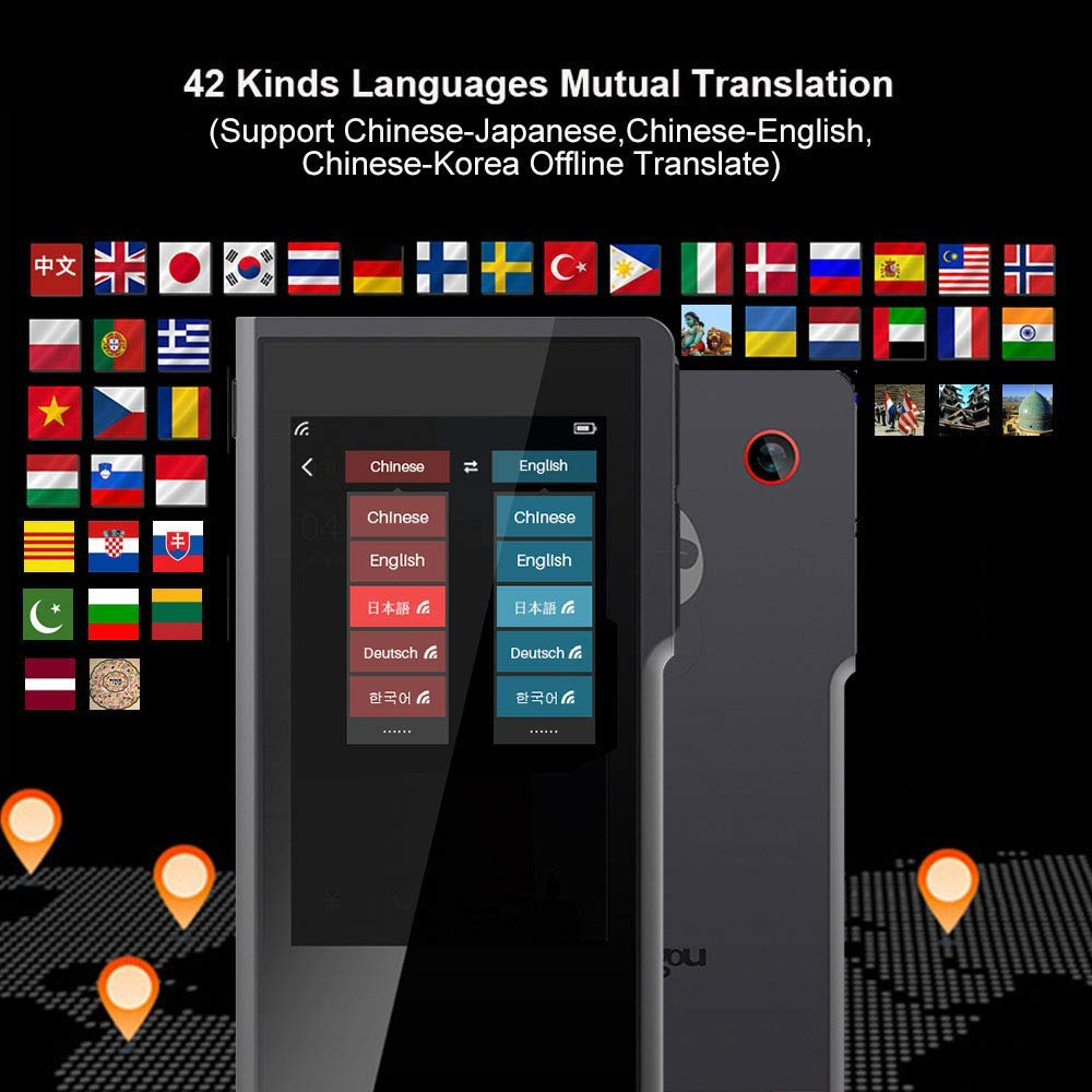 Salange Sogou pro Smart AI 42 Kinds Language Mutual Translator 3.1'' Touch Screen Offline & Picture Translating Support English Chinese Japanese Korean Offline Instant Real Time(Grey) by Sogou (Image #3)