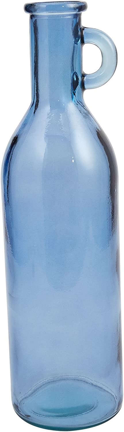 Mud Pie Bistro Clear Tall Recycled Spanish Glass Vase 20