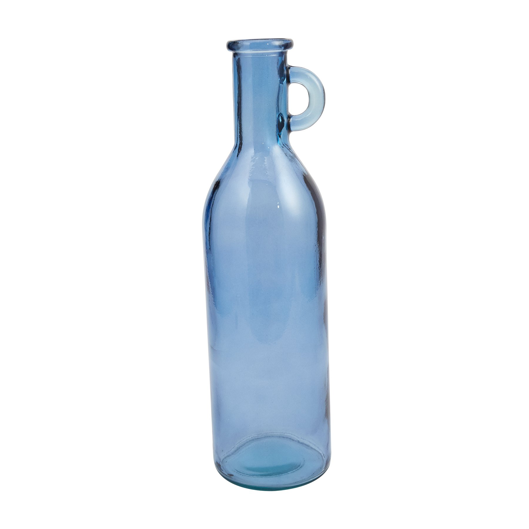 Mud Pie 4735005B Bistro Clear Blue Tall Recycled Spanish Glass Vase 20''