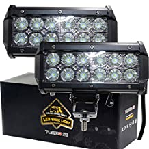 TURBO SII Pair 7 Inch Led Work Light bar 36w 3200LM Driving Pods Flood Beam Work Lamp For Off-Road Suv Boat 4X4 Jeep JK 4Wd Truck