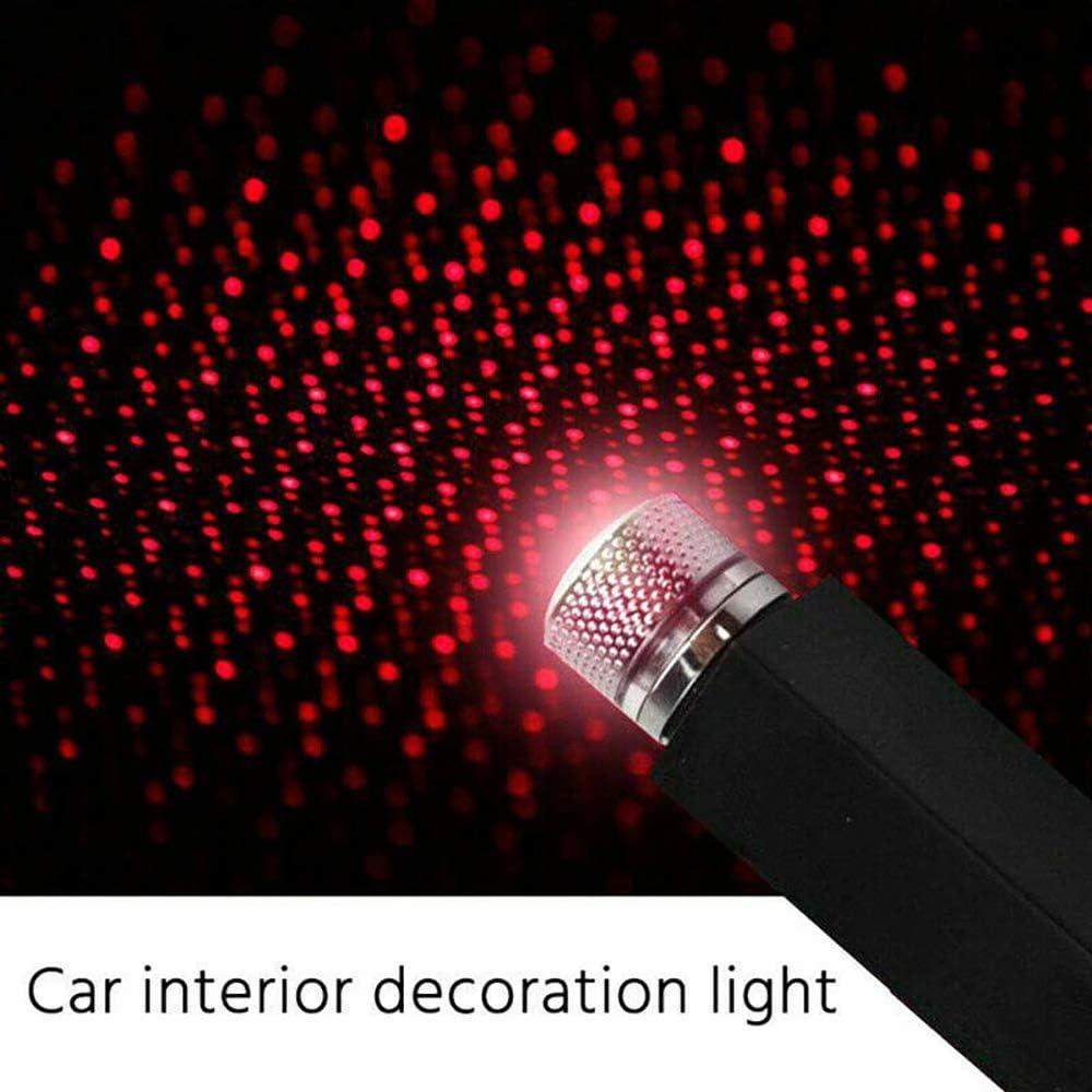 Plug and Play auto e casa tetto luci stelle proiettore soffitto romantico USB luce notturna cielo stellato atmosfera ambiente stella rosso blu Blu