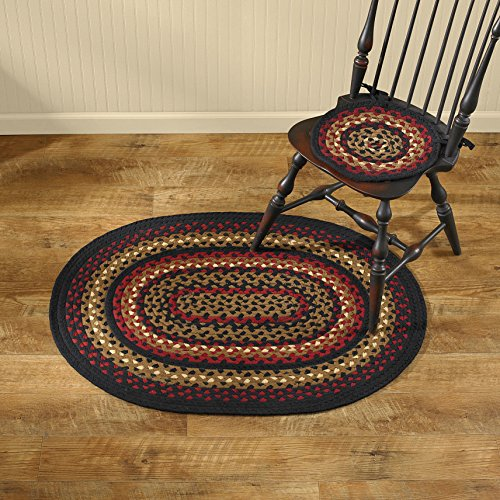(Park Designs Folk Art Braided Oval Rug - 32