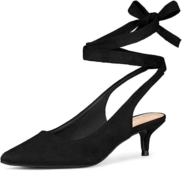 Fashion Women Ladies Low Kitten Heels Office Shoes Comfort Point-Toe Pumps 3Type